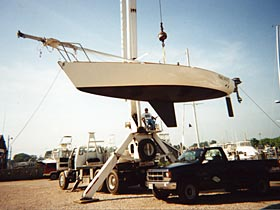 boat being lifted