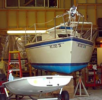 boats in the shop